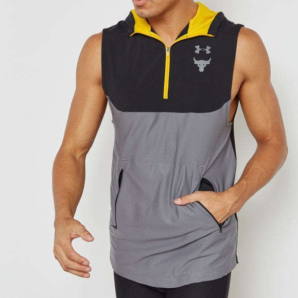 231c70e6cefa4 Under Armour Project Rock Sleeveless Hoodie Size L